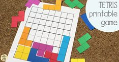 This Tetris printable game will bring back nostalgia for your favorite childhood video game. Print, cut, and try to fit as many pieces in the grid. Make this and the Tangrams out of felt for a travel felt board! Printable Games For Kids, Printable Board Games, Student Planner Printable, Free Printables, Paper Organization, School Organization, Lego Activities, Spring Activities, Travel Activities