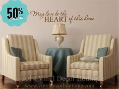 FRIDAY SALE May love be the heart of this by VinylDecorBoutique