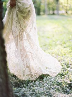 serene bridal session in lace | via: once wed