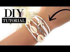 Zomers enkelbandje maken met kauri schelpjes? Bekijk de video tutorial en shop meteen de materialen die je nodig hebt om zelf de leukste sieraden te maken. Shell Jewelry, Shell Earrings, Jewellery, Choker, Macrame Jewelry, Bangles, Bracelets, Boho Necklace, Tribal Tattoos