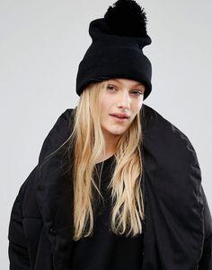 Monki | Monki Faux Fur Pom Beanie Hat