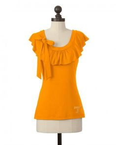 The University of Tennessee Ruffle Collar Top in Tennessee Orange