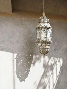 Marokańskie aranżacje wnętrza - lampa