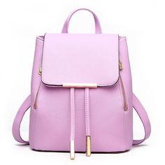 891141309c5 ... Women Backpacks Girl School Bag PU Leather Bags