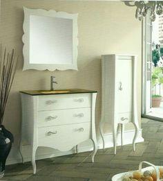 Muebles baño vintage color blanco