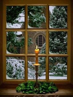 Some of my favorite memories are from our Christmas visits to Colonial Williamsburg; Christmas Candle In a Window Colonial Williamsburg. Photo by Tom Green Noel Christmas, Country Christmas, All Things Christmas, Winter Christmas, Vintage Christmas, Celtic Christmas, Simple Christmas, Christmas Photos, Christmas Crafts