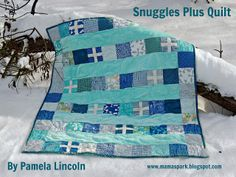 Moda Bake Shop: Snuggles Plus Quilt ~ another EASY quilt to make with great instructions.