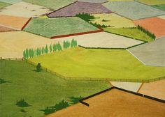 """Chris Ballantyne. Fields, 2010 Acrílico sobre madera 16 x 12"""""""