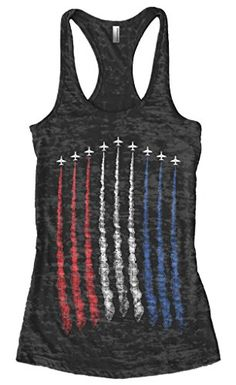 fbe20884ef 4th Of July Fashion Ideas for Women. Blue AirCasual Tops For WomenRacerback  Tank ...