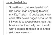 This is also why I spoil myself because I want to know to quickly without reading it so I look it up or read the last page of the book