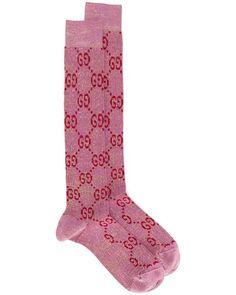 Gucci Gg-intarsia Knee-high Cotton-blend LamÉ Socks In 5872 Pink Boho Mode, Old Symbols, Business Mode, Socks For Sale, Vintage Mode, Trends, Ankle Socks, Outfits, Socks