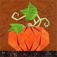 Mr. Pumpkin Paper-Pieced Pattern Fat Fpaperpanache.com