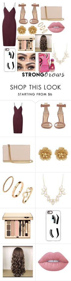 """EYEBROWS"" by elsadina ❤ liked on Polyvore featuring beauty, T By Alexander Wang, Gianvito Rossi, Diane Von Furstenberg, Miriam Haskell, Charlotte Russe, Clarins, Casetify, Lime Crime and Britney Spears"
