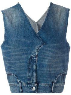 Source by ChristStein Designer Waistcoats & Men's Vests - Luxury Shop Maison Margiela jean denim vest. Source by ChristStein Red Vest Mens, Denim Vest Men, Jeans Denim, Denim Top, Tweed Vest, Plaid Vest, Denim Jackets, Gilet Jeans, Salopette Jeans