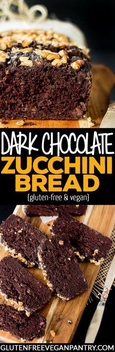 Dark Chocolate Zucchini Bread - Vegan + Gluten-free   glutenfreeveganpantry.com