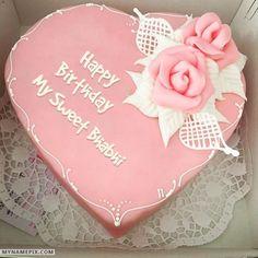 Happy Birthday Donna, Happy Birthday Baby Girl, Heart Birthday Cake, Birthday Cake Greetings, Birthday Wishes With Name, Birthday Cake Writing, Happy Birthday Cake Images, Pink Birthday Cakes, Birthday Cake Pictures