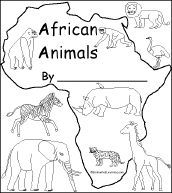 Print out of an animal book the kids can color and asante can practice writing on the lined part african animals on what a beauty of a king! Animal Activities, Preschool Activities, Africa Activities For Kids, African Animals, African Safari, Africa Craft, Enchanted Learning, Afrique Art, Les Continents