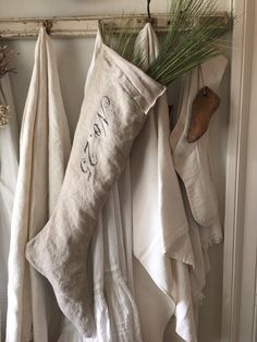 A personal favorite from my Etsy shop https://www.etsy.com/ca/listing/557866817/farmhouse-linen-christmas-stocking-no25