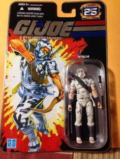 GI Joe 25th Anniversary Silver Foil Figure Cobra Ninja Storm Shadow Great Gift