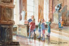 """Rodin Museum"" Paris France Rodin Museum Paris, Arches Watercolor Paper, Art Studies, Paris France, Touring, Vibrant Colors, Sculpture, Museums, Prints"