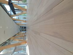 Wood bridge in Linne University (Växjö, Sweden).