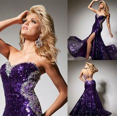 Sexy Purple Sequin Long Prom Dress Tony Bowls Paris 113711 #ShopSimple