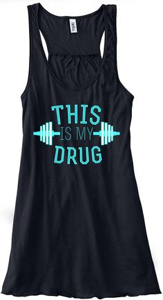 This Is My Drug Barbell Train Gym Tank Top Flowy Racerback Workout Work Out Custom Colors You Choose Size & Colors