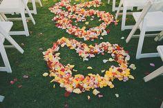 Valentine's Day wedding ideas: Rose Petal Ceremony Hearts