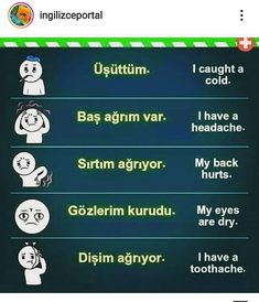 English Time, Learn English Words, English Lessons, Turkish Lessons, Sign Language Phrases, Learn Turkish Language, Words To Use, Grammar And Vocabulary, Language Lessons