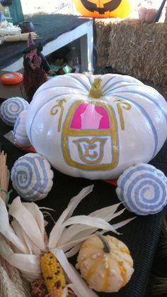 Cinderella carriage pumpkin Halloween craft