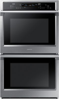 Samsung NV51K6650DS 30 Inch Electric Double Wall Oven with 5.1 cu. ft. Capacity, Steam Cook, Dual Convection, Rapid Preheat, Delay Bake, Electronic Touch Display, Wi-Fi Enabled Temperature Probe and Hybrid Self Clean: Stainless Steel 2875.10