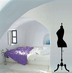 Female dress form mannequin vinyl wall decal / by cutnpasteshop