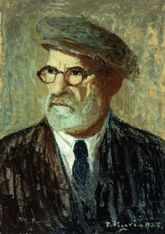 Self-Portrait; Autorretrato. Pedro Figari (1861-1938). Oil on board. Signed and dated 1925. 49.5 x 34.7cm.