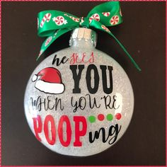 Naughty or nice, naughty, Nice list, Glass Ornament, personalized ornament