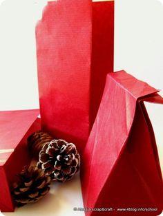 buste e sacchetti per i regali, fatti con la carta craft