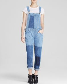 Paige Denim Overalls - Sierra Patchwork in Underwood | Bloomingdale's