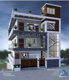 Suggest any design changes 3 Storey House Design, Bungalow House Design, Residential Building Design, Home Building Design, House Outside Design, House Front Design, 2bhk House Plan, House Construction Plan, Modern Small House Design