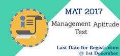 MBAUniverse: Last Date for Online Registration for December MAT...