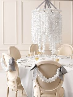 Doily mobile & for chairs with grey satin
