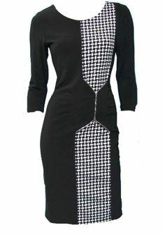 Joseph Ribkoff Dress | Black & White | 2014 Collection | #josephribkoff #fashion.