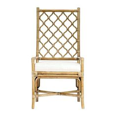 Our favorite part about this chair is its tall latticework back that creates visual interest and a light and airy feel. It's airy and comfortable, so you'll restyle it for years to come. EMAIL FOR AVAILABILITY.This item is backordereduntil mid October 2017.