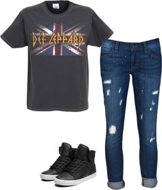 """""""def leppard"""" by lackey-lack on Polyvore"""