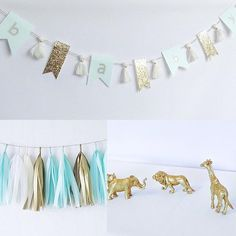 #mintgreen and #gold #safari theme for baby  Order your custom decor , banners and more from our #etsyshop (link in bio)  If you can dream it we can create it!  #love #design #custom #stationary #stationery #etsyca  #papergoods #etsyfinds #partydecoration #yyz #gta #handmadeloves #makersvillage #etsysellers #craftspire #lovemymakers #whereitsat #favehandmade #handmadecurator #torontomoms #momsofinstagram #bridetobe #partyplanner