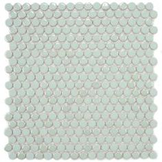Merola Tile Cosmo Penny Round Mint 11-1/4 in. x 12 in. Porcelain Wall Tile. Home Depot