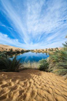 Uhm al Maa lake ~ Ubari desert, Republic of Libya, North Africa [photo by Stefano Scatà, Bassano del Grappa, Italia]....
