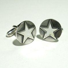 White Star   SILVER & ENAMEL CUFFLINKS - product image SCHJ WWW.SILVERCHAMBER.CO.UK
