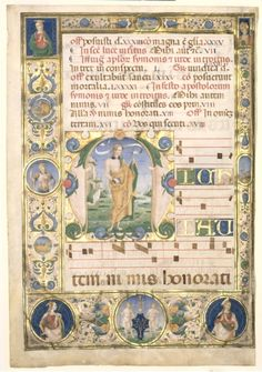 Andrew: Leaf from a Gradual with Initial M, c. 1480 Jacopo Filippo d' Argenta (Italian) ink, tempera, and gold on parchment, Sheet - cm inches). Wade Fund Location: not on view Cleveland Museum of Art Statues, Renaissance Music, Initial M, Early Music, Illumination Art, Cleveland Museum Of Art, Antique Decor, Medieval Art, Ex Libris