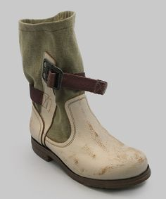 Look what I found on #zulily! Off-White & Ocre Saca Leather Boot by FLY London, $85 !!  #zulilyfinds