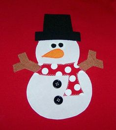 Fabric Applique TEMPLATE ONLY Chubby SnowmanNEW by etsykim on Etsy, $2.00