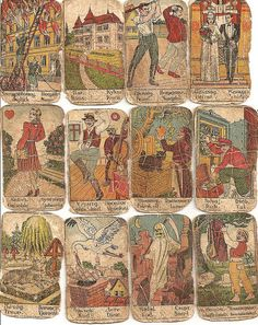 Antique fortune-telling cards